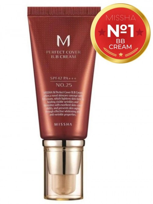 Тональный bb крем MISSHA M Perfect Cover BB Cream SPF42/PA+++ (тон 25/Warm Beige), 50 ml