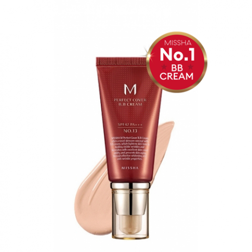 Тональный bb крем MISSHA M Perfect Cover BB Cream SPF42/PA+++ (тон 13/Bright Beige), 50 мл