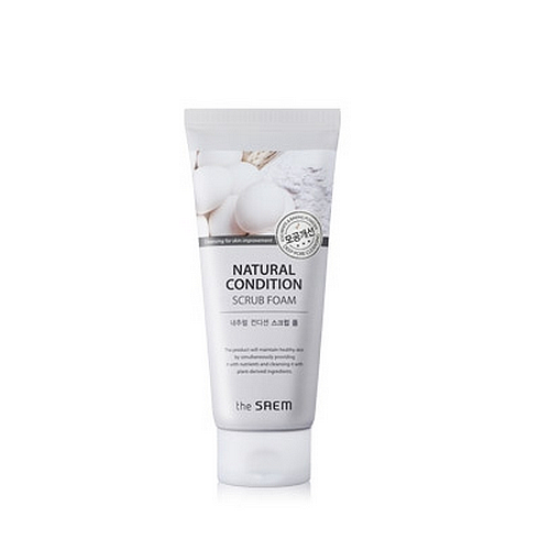 Пенка-скраб для лица The Saem Natural Condition Scrub Foam